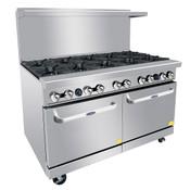 """NEW 10 Open Burner 60"""" Range & Std Gas Oven Commercial ETL Atosa AGR10B #6043"""