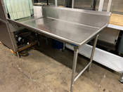 """60"""" Right Side Dish Table Dirty Pre Wash All Stainless Steel #5275"""