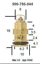 Mikuni 786-36011 and 990-786-044 Viton Tip Needle Valve for HS40 TM40 TM36 Pumper Carburetors