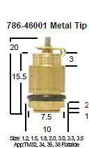 Mikuni 786-46001 Metal Tip Needle Valve TM32 TM34 TM36 TM38