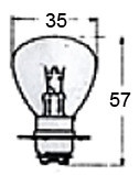 Headlight Bulb 12 Volt A5676 for Vintage Bikes