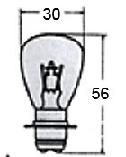 Headlight Bulb 6V Or 12V A7007 for Vintage Bikes