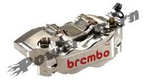Brembo HP Billet 2 Piece Caliper Kit Nickel Plated 100MM Spacing