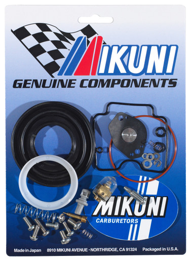 This Mikuni BSR42-04 carburetor rebuild kits contain all the necessary genuine Mikuni components to rebuild your OEM Cam-Am Mikuni BSR42 carburetor.  Includes genuine gaskets, o-rings, screws, and clips however does not contain any jetting.  See the parts list and diagram below, ALL included parts are circled and listed.  Model applications are also listed below.