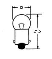 Indicator Bulb 12 Volt 3.4W, A-72