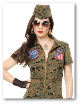Women's Military Costumes