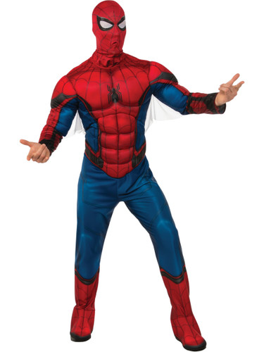 Adult Mens Spider-Man Homecoming Muscle Chest Costume