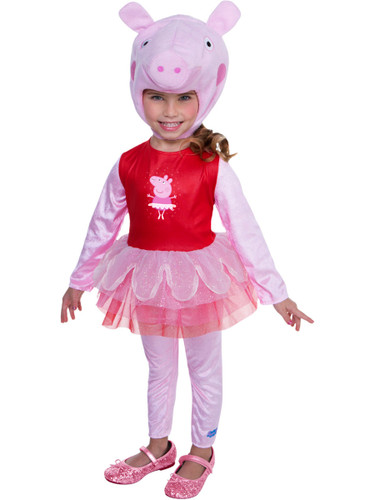 Peppa Pig Toddler Costume Ballerina Dress With Hood