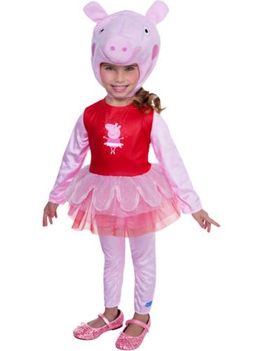 Peppa Pig Toddler Costume Ballerina Dress With Hood