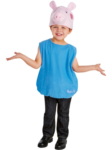 Peppa Pig Little Brother George Toddler Jumpsuit Costume With Tail