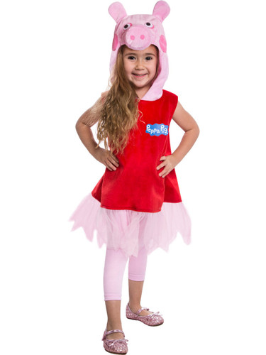 Peppa Pig Deluxe Toddler Costume Hooded Dress