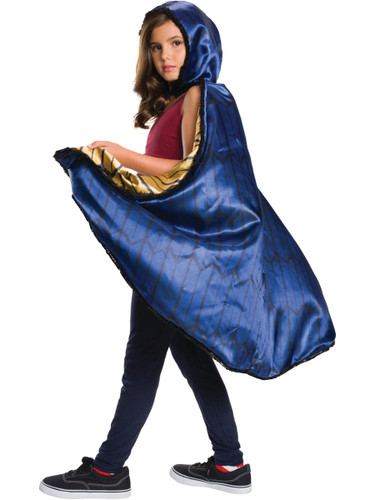 Child's Girls Deluxe Justice League Woman Cape Costume Accessory