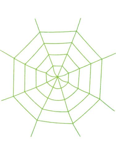 Creepy Crawly Stretchy Fabric Spider Web Arachnid Decoration 6.2' Length