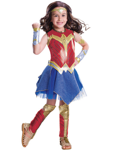 Child's Girls Deluxe Wonder Woman Justice League Costume