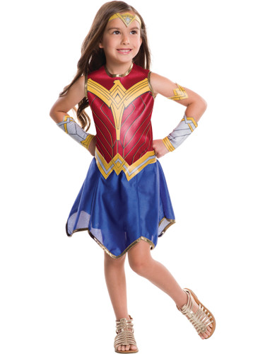 Child's Girls Classic Wonder Woman Justice League Costume