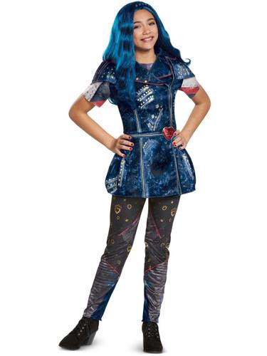 Girls Classic Disney Descendants 2 Isle Look Evie Costume Bundle