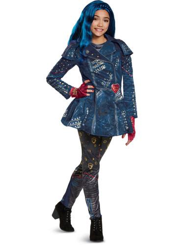 Girls Deluxe Disney Descendants 2 Isle Look Evie Costume Bundle