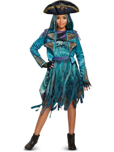Girls Deluxe Disney Descendants 2 Isle Look Uma Costume Bundle