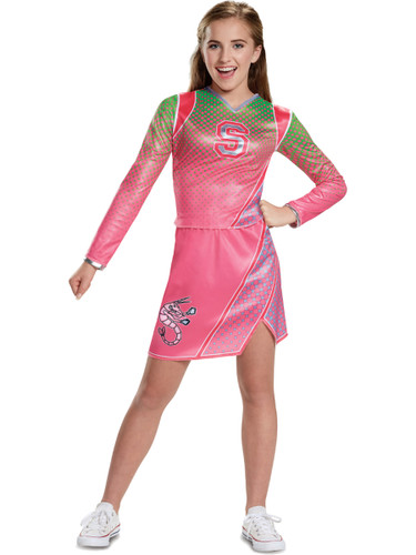 Girls Disney Zombies Addison Pink Cheerleader Outift Costume