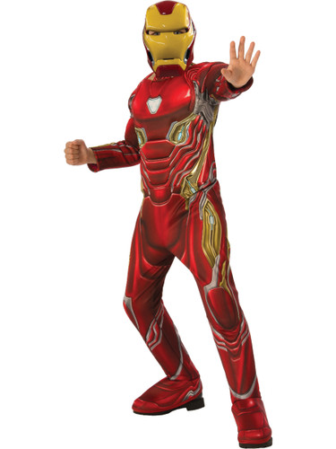 Boys Iron Man Marvel Avengers Infinity War Deluxe Costume