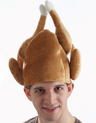 Plush Roasted Turkey Thanksgiving Hat Leg Tipped Costume Party Cap