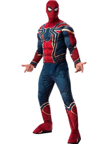 Mens Avengers Infinity War Iron Spider-man Deluxe Costume