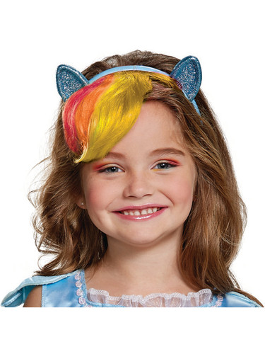 Child's My Little Pony Rainbow Dash Headband With Hair Costume Accessory