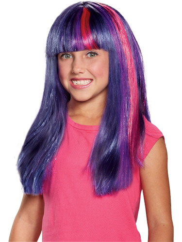 Child's Girls My Little Pony The Movie Twilight Sparkle Wig Costume Accessory