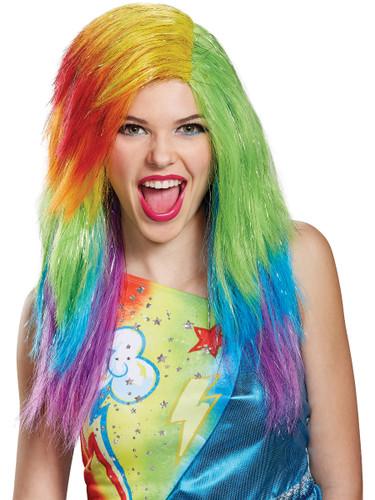 Womens My Little Pony The Movie Rainbow Dash Wig Costume Accessory