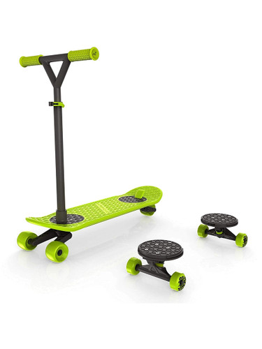 MorfBoard Skate And Scoot Combo Set Chartreuse