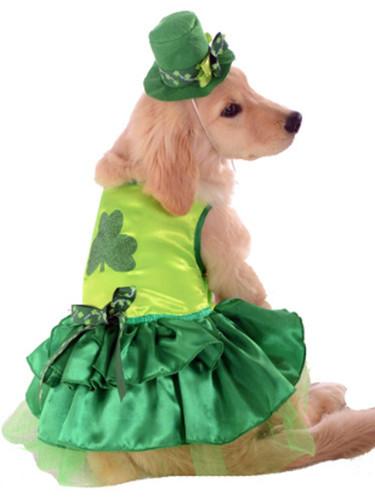 Irish St Patricks Paddys Day Lucky Girl Dog Pet Costumes