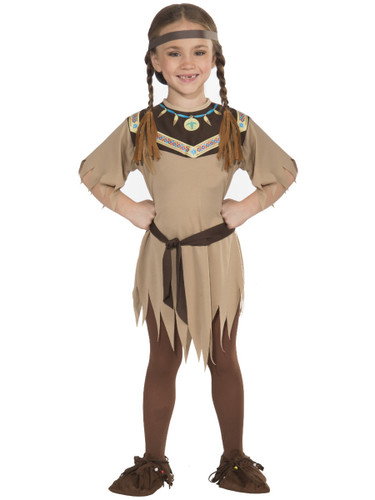 Child Girls Native American Princess Indian Pocahontas Costume