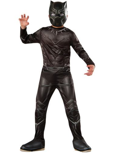 Child's Boys Marvel Avengers Black Panther Captain America Civil War Costume