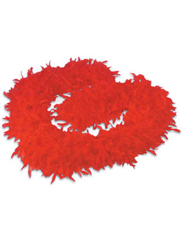 "Deluxe Large Red 72"" Costume Accessory Feather Boa"