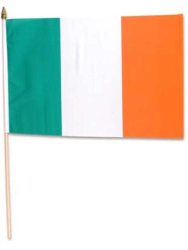 1 x 1.5' Ireland Flags Wooden Dowel Parade Irish Flags