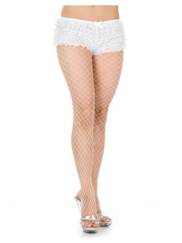 Womens 2-8 Sexy White Costume Accessory Tanga Ruffle Hot Pants Boy Shorts