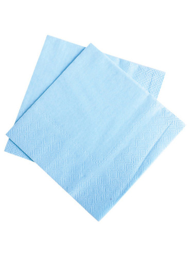 "Lot 50 9.75"" Light Blue Beverage Bar Drink Part Decoration Paper Napkins"