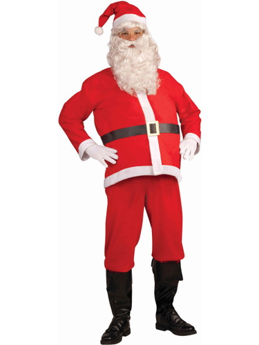 Adults Mens Christmas Economy Disposable Santa Claus Costume Standard 42