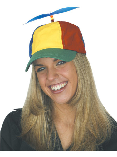 Adults Nerds Multicolored Propeller Hat Cap Costume Accessory