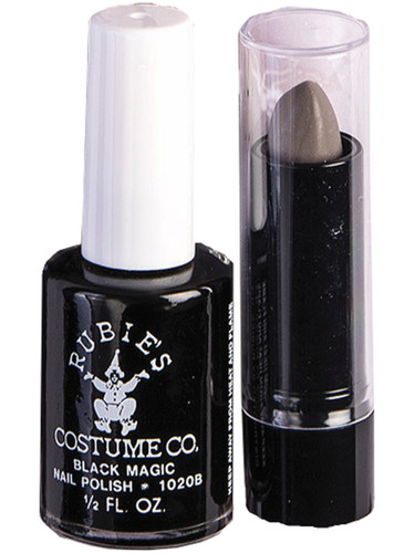 Adult's Womens Sexy Witch Nail Polish And Lipstick Makeup Set Costume Accessory