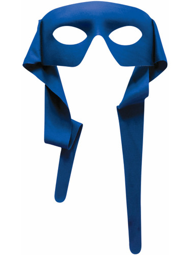 Mens Blue Masked Man With Ties Venetian Mardi Gras Mask Costume Accessory
