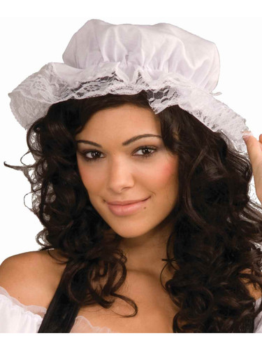 Deluxe Adult White German Bavarian Oktoberfest Costume Mob Hat
