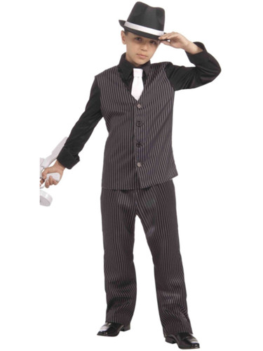 Child Roaring 20s Lil Gangster Boy Costume
