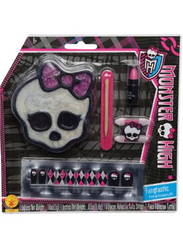 Deluxe Monster High Fangtastic Skullette Costume Accessory Makeup Fingernail Kit