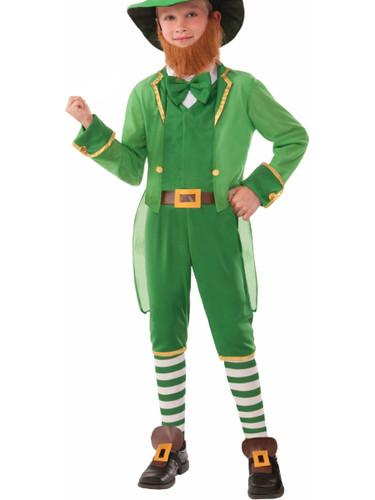 Child's Boys St. Patrick's Day Green Irish Lil Leprechaun Costume