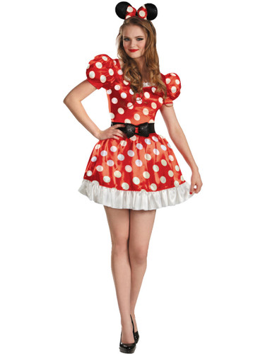 Womens Sexy Red Disney Mickey Mouse Club Minnie Mouse Adult Costume