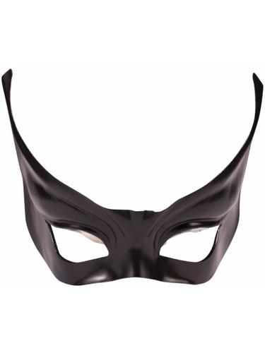 Mens Evil Black Winged Venetian Mardi Gras Mask Costume Accessory