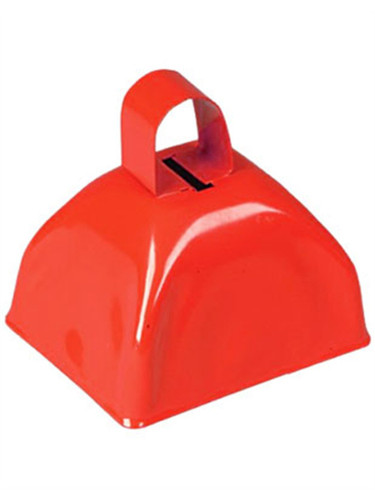 """Super Cool 3"""" Red Metallic Costume Accessory Cow Bell"""