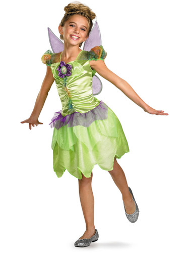 New Childs Disney Tinker Bell Rainbow Fairy Costume