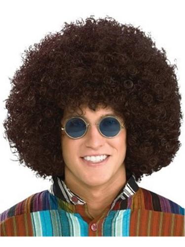 Oversize Jumbo Adult Brown Afro Disco Costume Wig